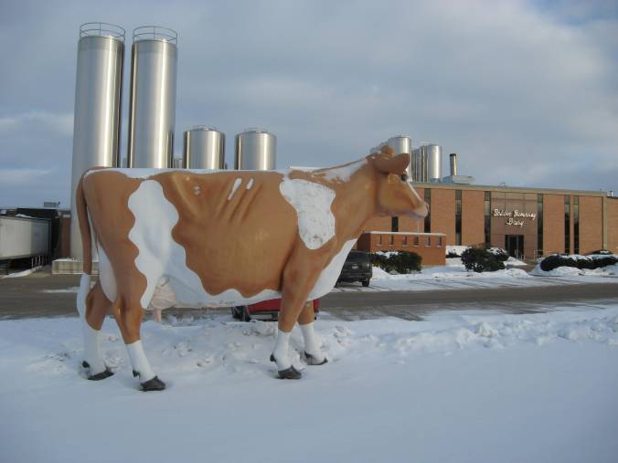 Waukesha's great cow monument