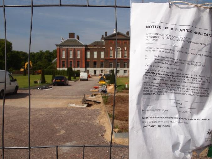 Kensington Palace, under construction