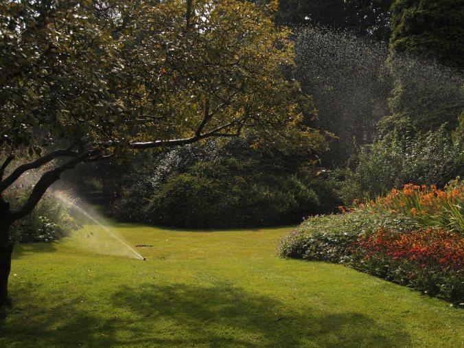 springlers watering Kensington Garden