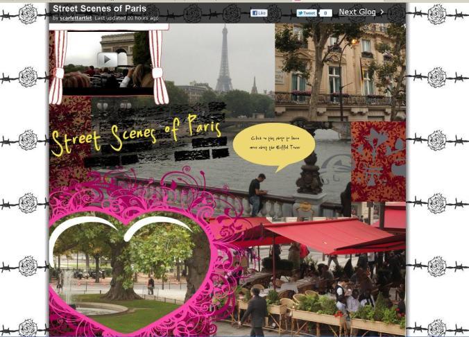 Street Scenes of Paris glog
